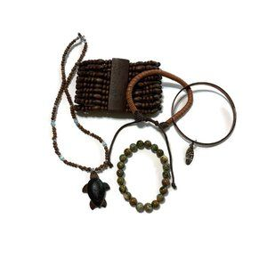 Jewelry - Earth tone wearable craft harvest lot